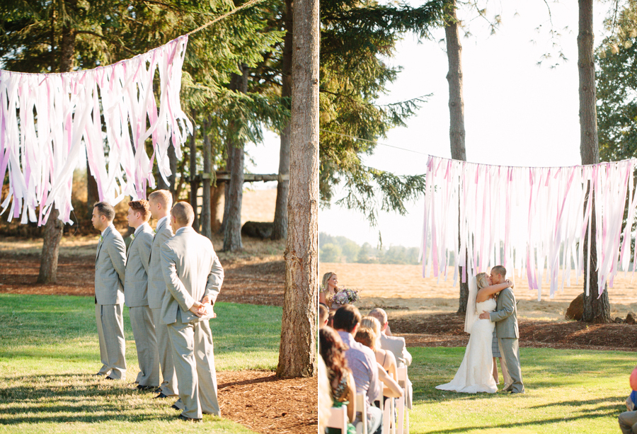 Grey Suits at Oregon Wedding