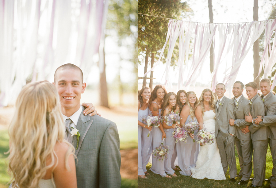 Happy Bridal Party at Oregon Wedding