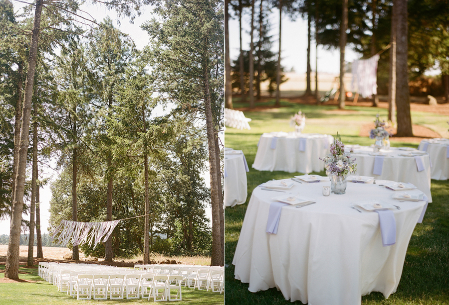 Lavender Wedding in the Oregon Woods