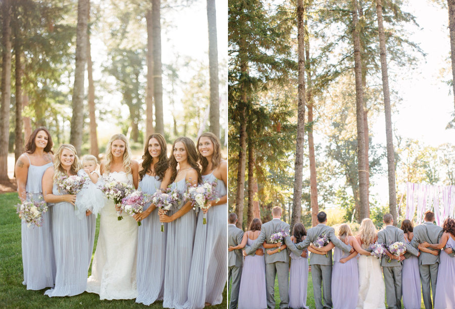 Lavender and Gray Bridal Party