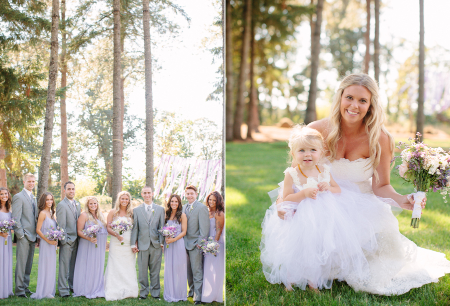 Purple Bridesmaids Dresses at Oregon Wedding