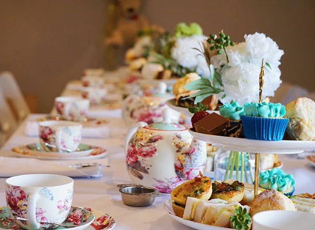 Celebrating Baby McCulloch today 💙  #misspottshightea #hightea #high #afternoontea #foodphotography #scones #cupcakes #babyshower #desserttable #yum #foodie #delicious