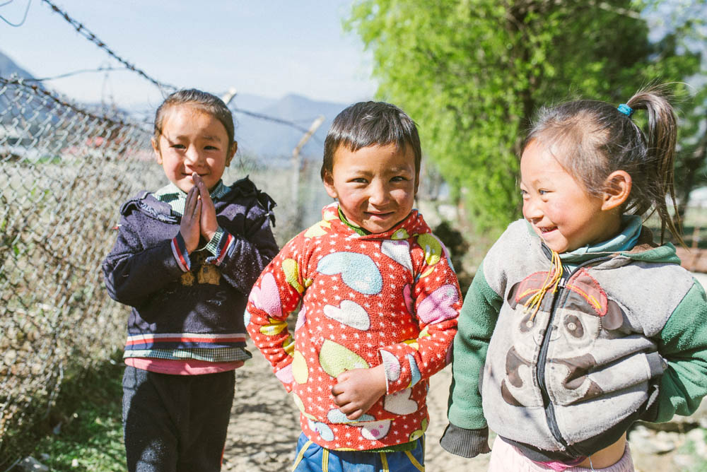 Nameste. Cutest kids on route towards everest base camp.