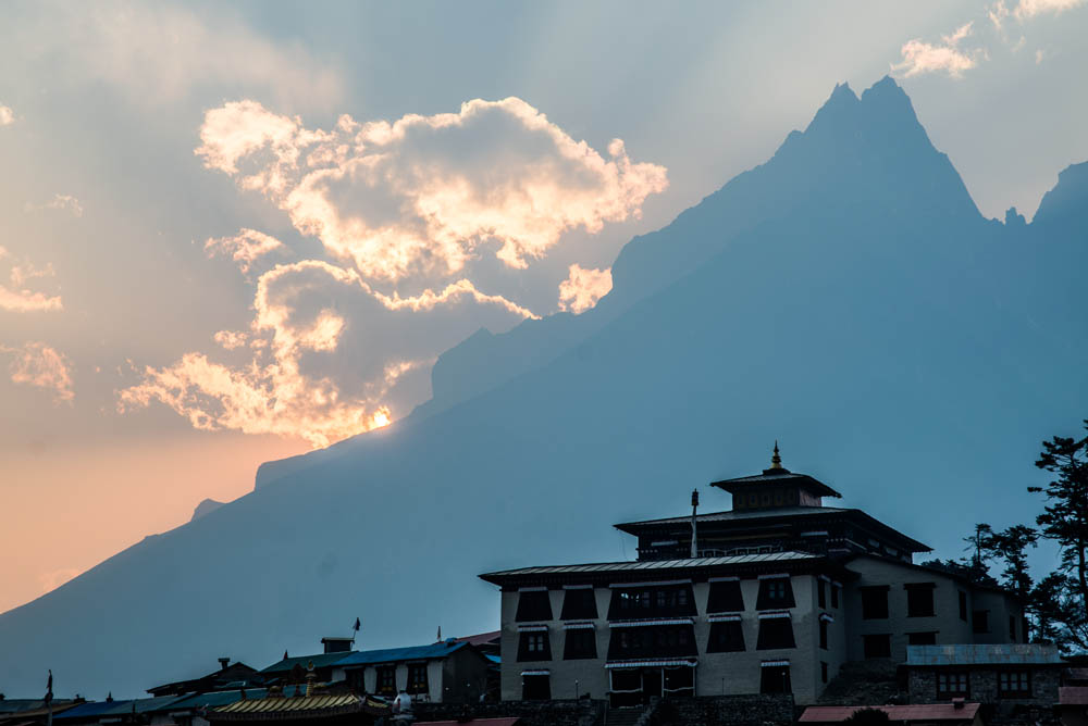 Tengboche monastery. Largest in the area.