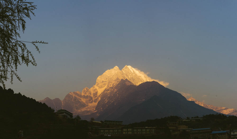 Sunset on the himalayas