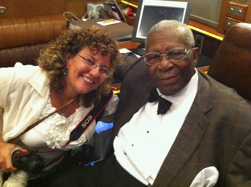 Karen Focht and B.B. King