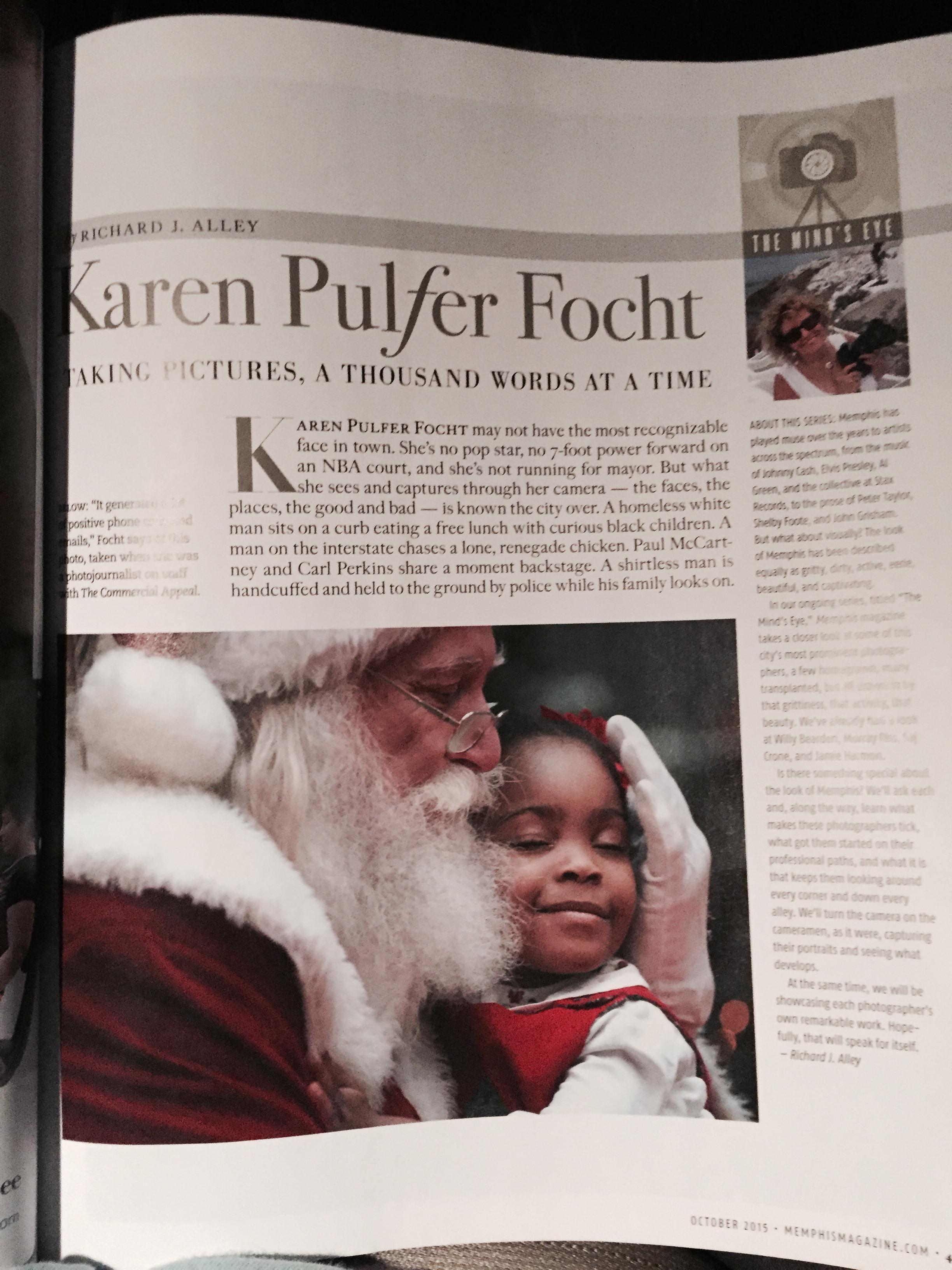 Karen Pulfer Focht- Memphis Magazine