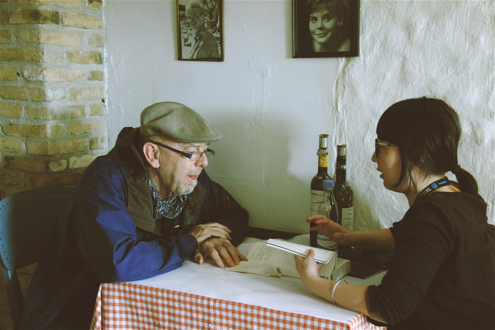 与All About Jazz记者Henning Bolte交流
