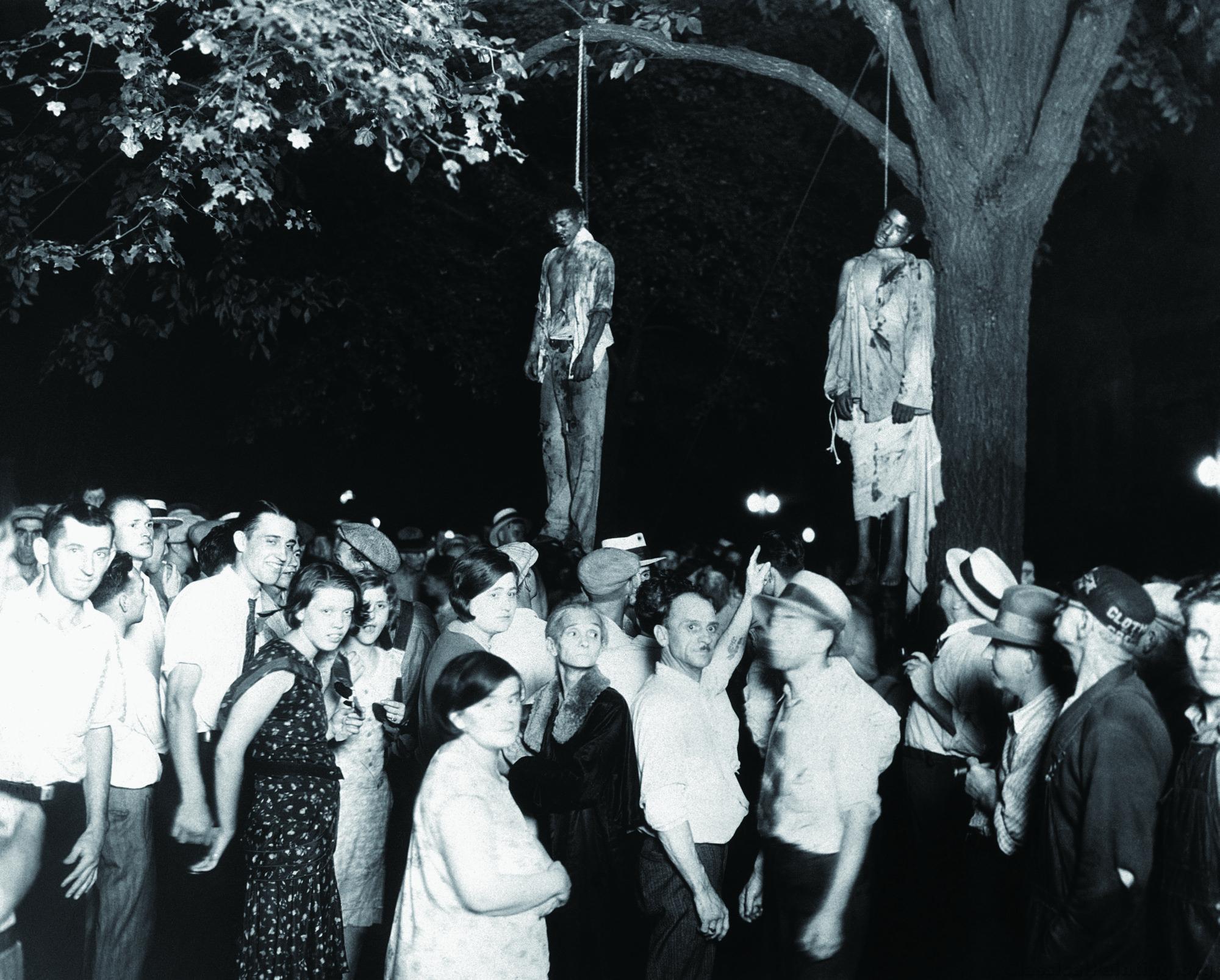 被私刑吊死的黑人,1930