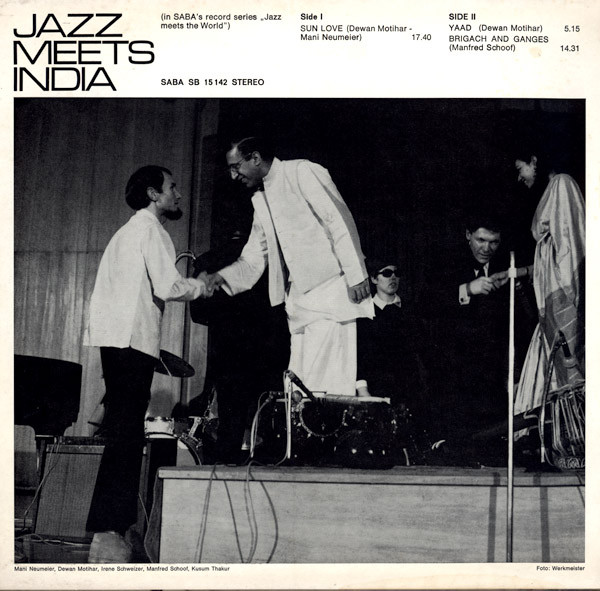 《Jazz Meets India》上的照片,最左边为Mani Neumeier