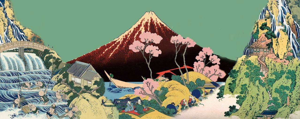 高円寺百景去年发行的专辑《Dhorimviskha》封面与内页美术图