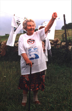 "1999, beloved grandmother shouts ""STOP CO2"""