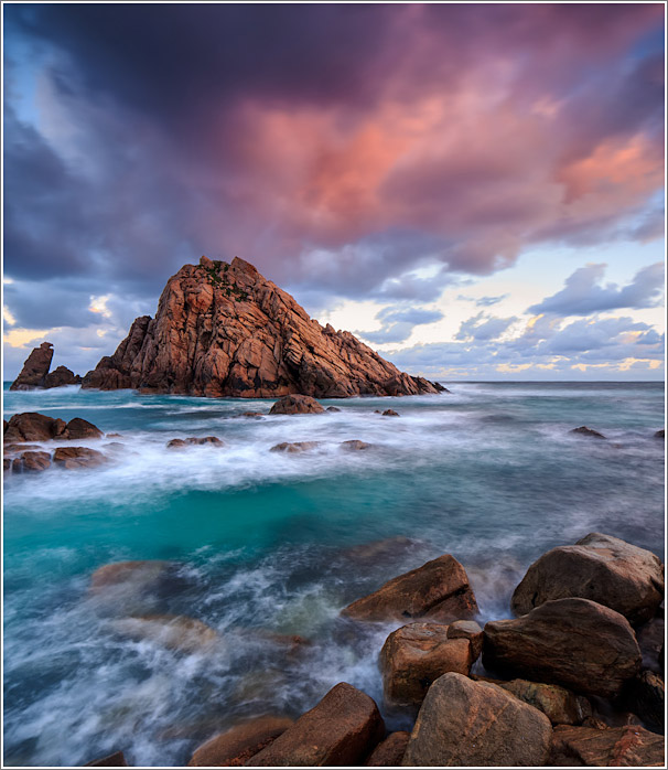 A two image stitch capturing a brief splash of colour in the clouds. The light quality deteriorated very quickly after this.