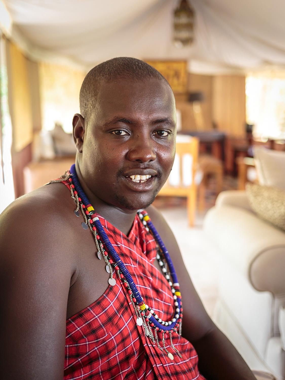 A friendly guide in Kenya.