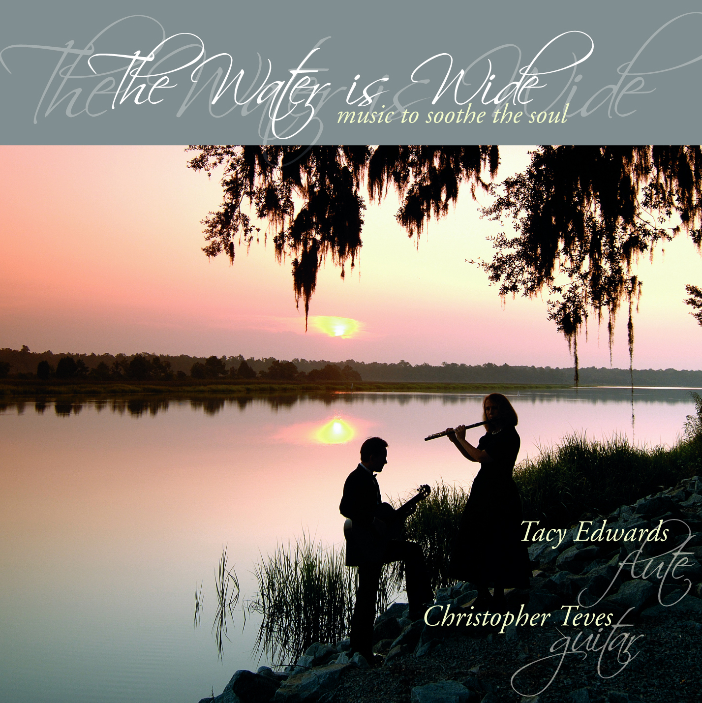 Water Is Wide CD available on  itunes  and  CDbaby . Cover photo by  Chris and Cami Photography  taken at dawn on the Ashley River at the  Drayton Hall Plantation .