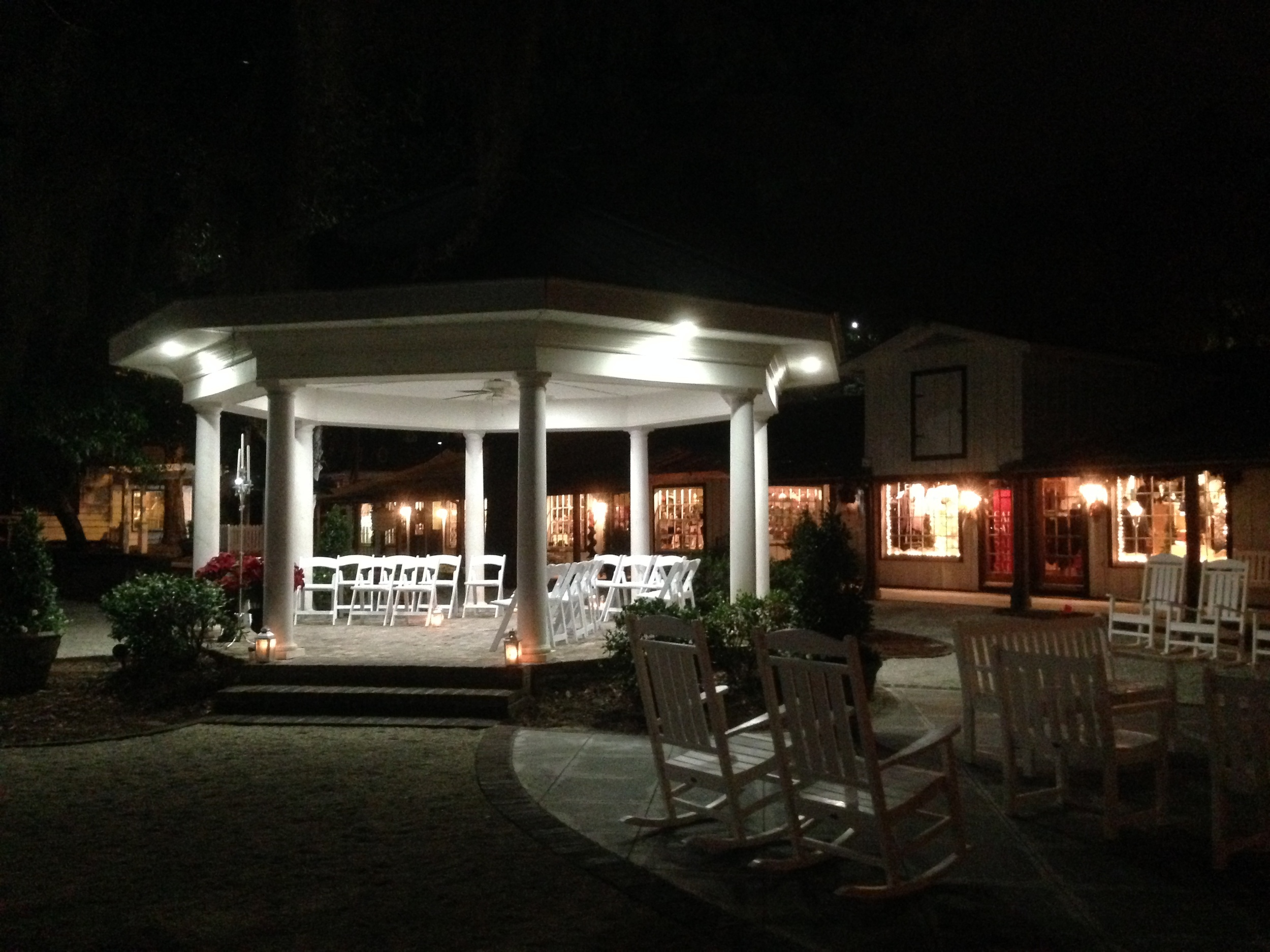 Gazebo at Nosh's Restaurant, Pawley's Island, SC. I took this as I was leaving after the wedding.