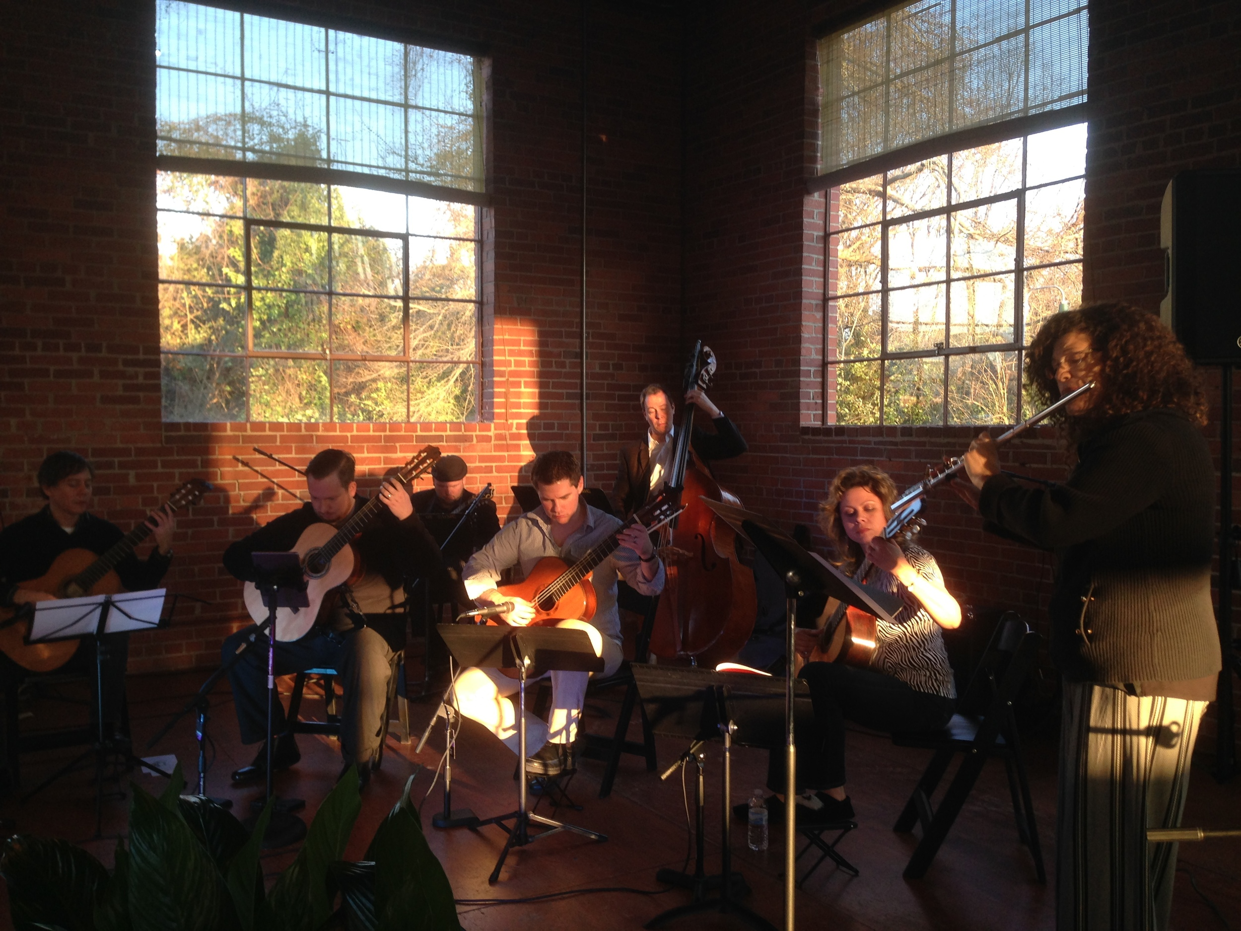 Pre concert rehearsal with some very cool sunset lighting!
