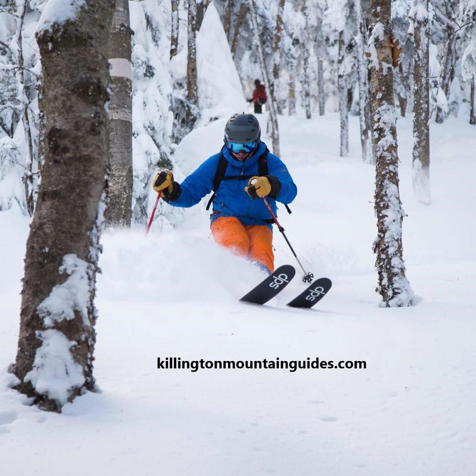 In an age when the ski industry is becoming increasingly consolidated and homogenized, more skiers are looking for the backcountry alternative. Our private backcountry ski area is located in Pittsfield less that 5 miles from the Killington Ski area. We do not have ski lifts, snow making, ski patrol, groomed trails, or marked hazards. The terrain is mostly advanced to moderate terrain with drops, narrow steep chutes and narrow gladed runs. There are many hidden hazards under the snow pack to include logs, stumps, holes, cliffs and waterfall ice. If you ski too aggressively here you will most likely break yourself. This is not an area for beginners or intermediate skiers.  The ski area is not open to the public, however we do allow experienced backcountry skiers access at no cost based on a ski assessment and a signed liability waiver. (Ski at your own risk) The best way to explore this area is to hire a guide. Skiing and hiking are not allowed with out permission from the land owner. For more information and current conditions please contact us at killingtonmountainguides@gmail.com.