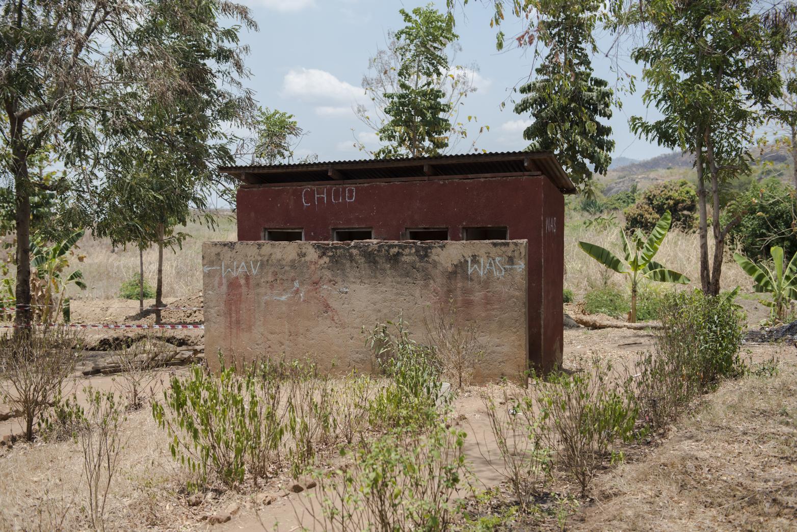 The toilet block in Mkindo