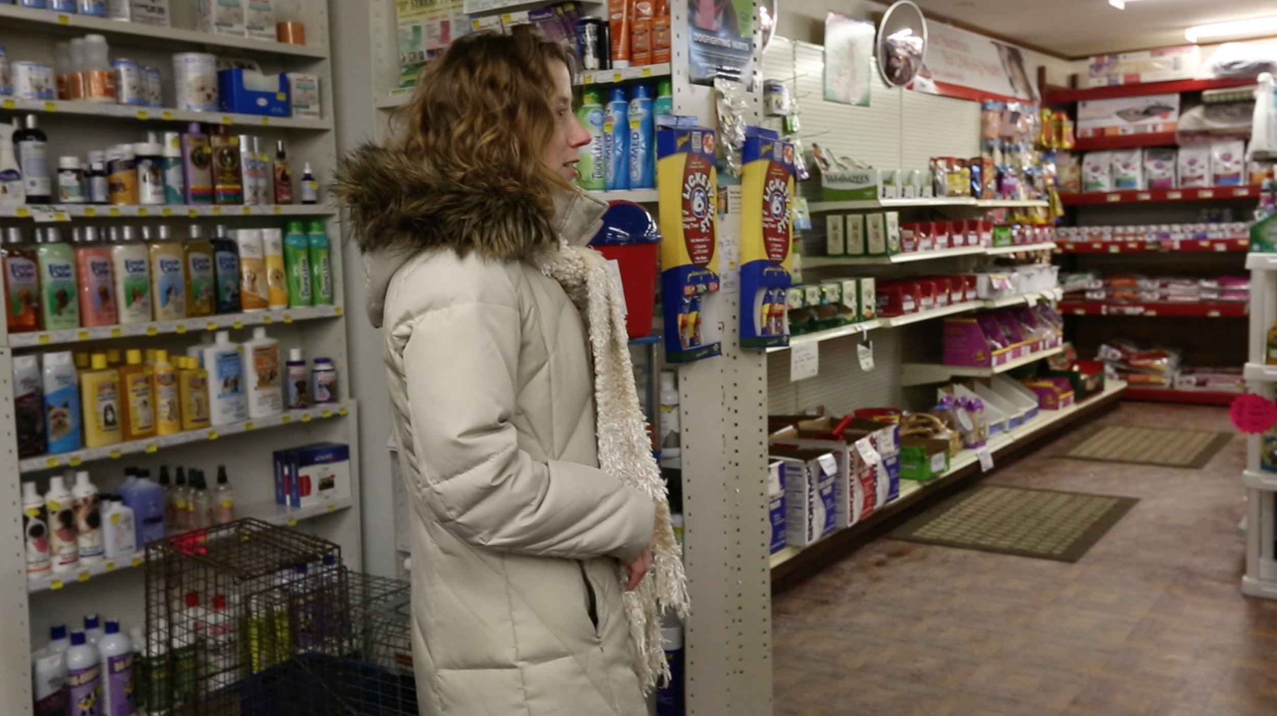 Talking to a store owner participating in Saturday's event