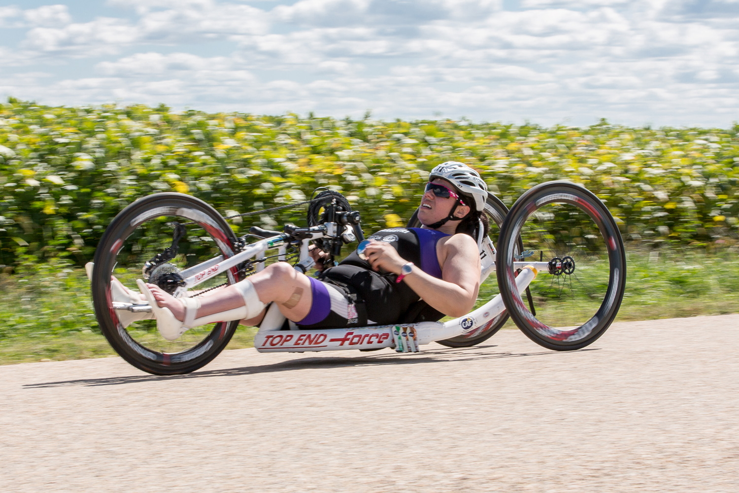 A tough way to bike one of the hilliest Ironman bike portions in the country.