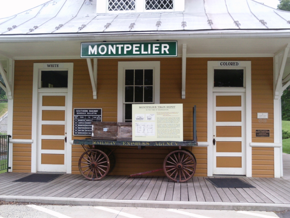 Montpelier Station train depot.