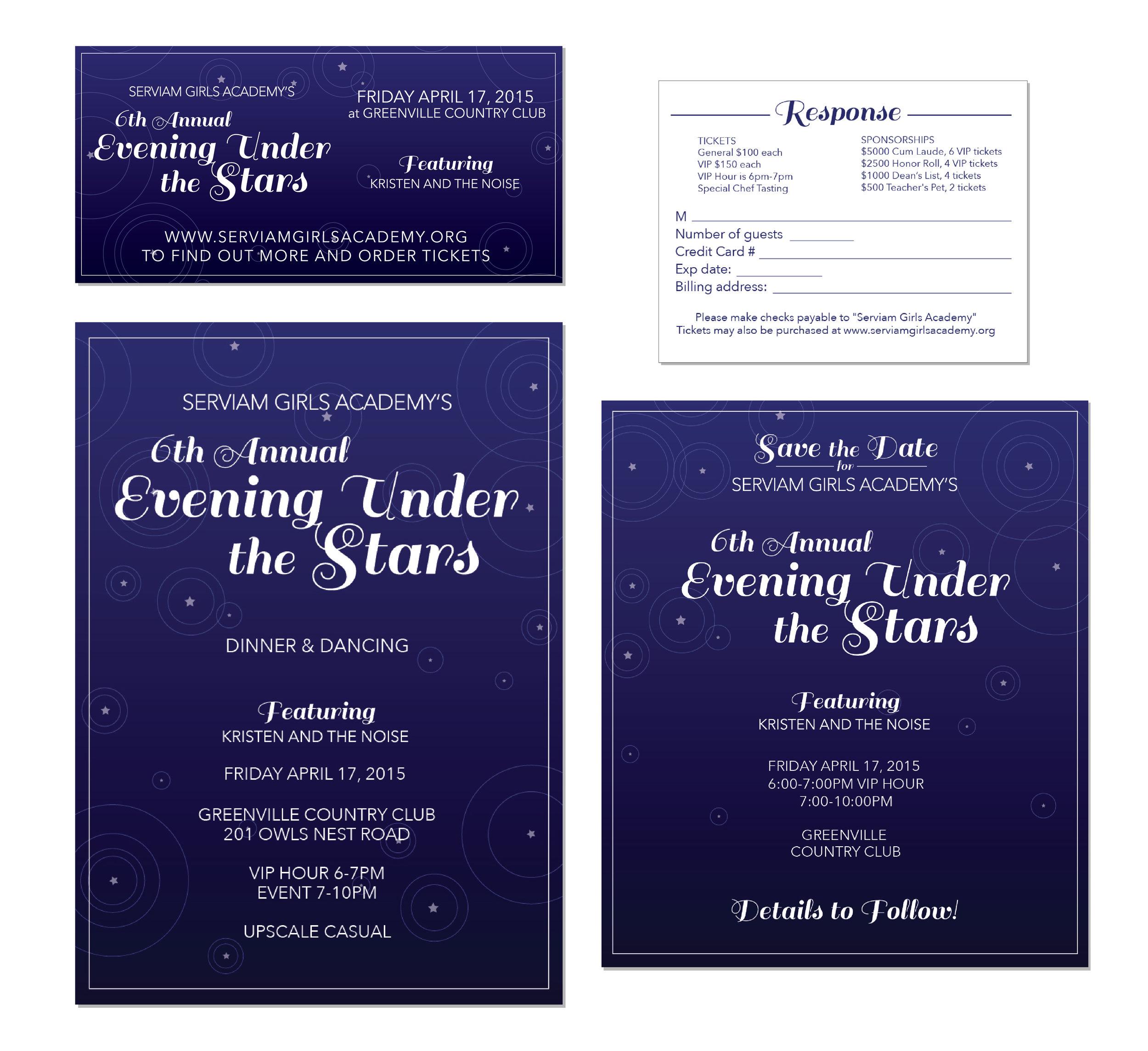 Serviam Academy / Event Invitation Suite
