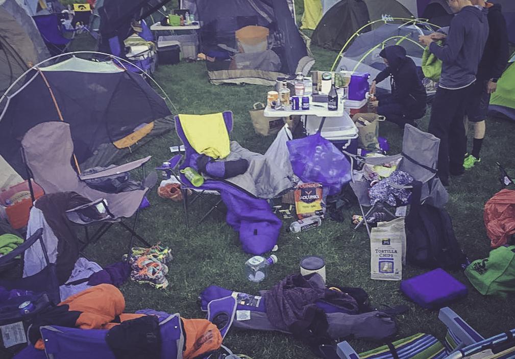 Camp at 7 a.m.