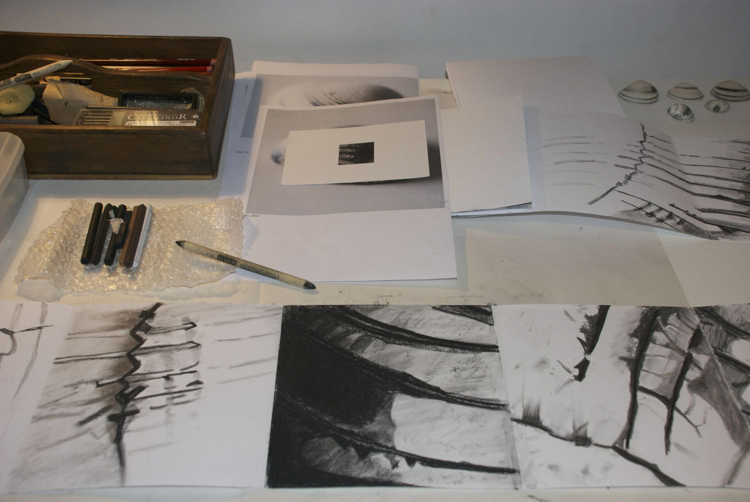 Drawing table close up