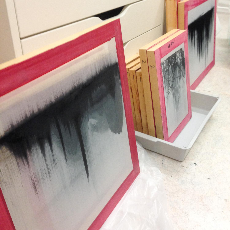 Screens drying Helen Terry.jpg