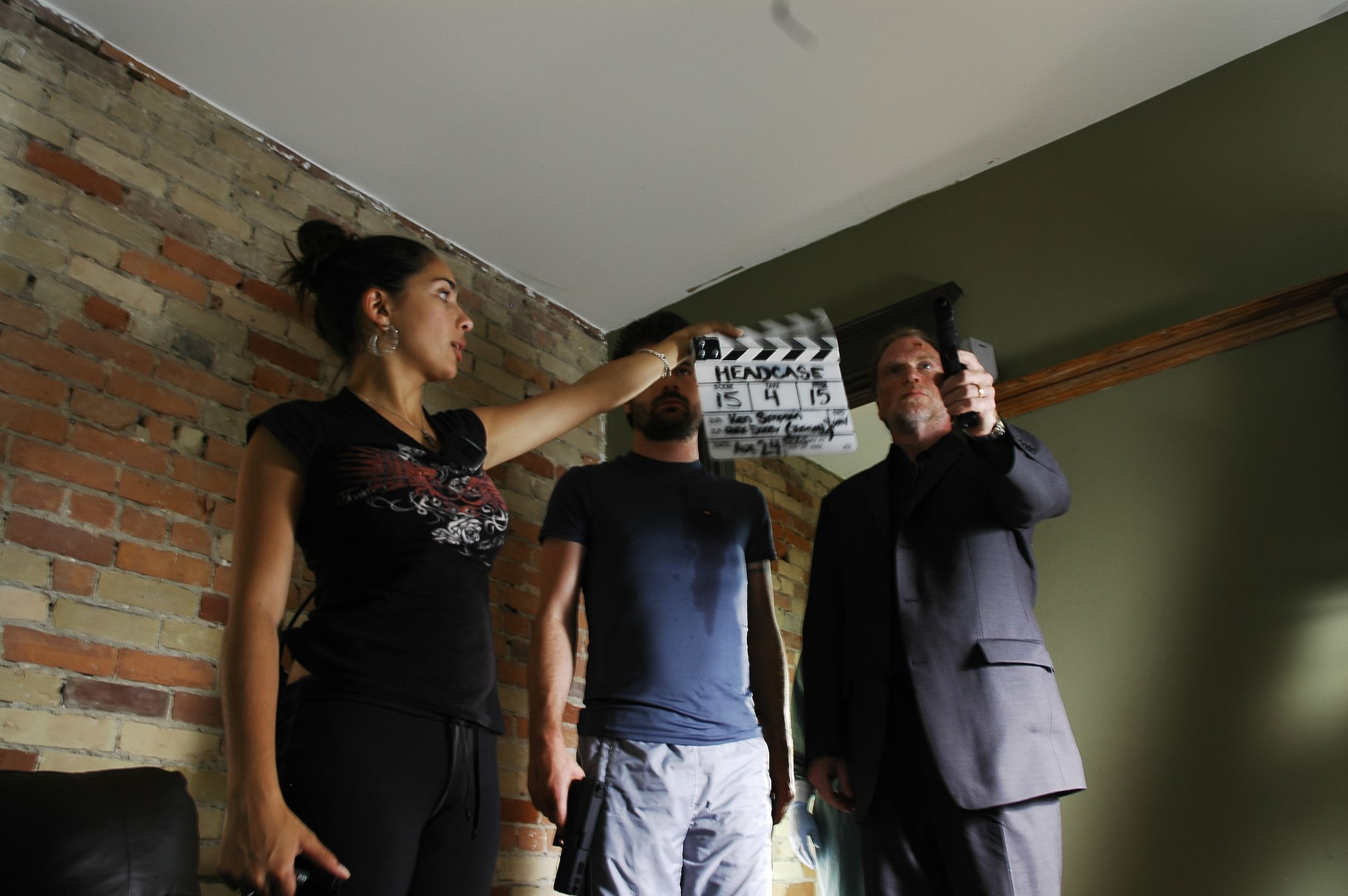 Co-producer Lara Amersey slates for Isaac Visaretis & Brian Scott
