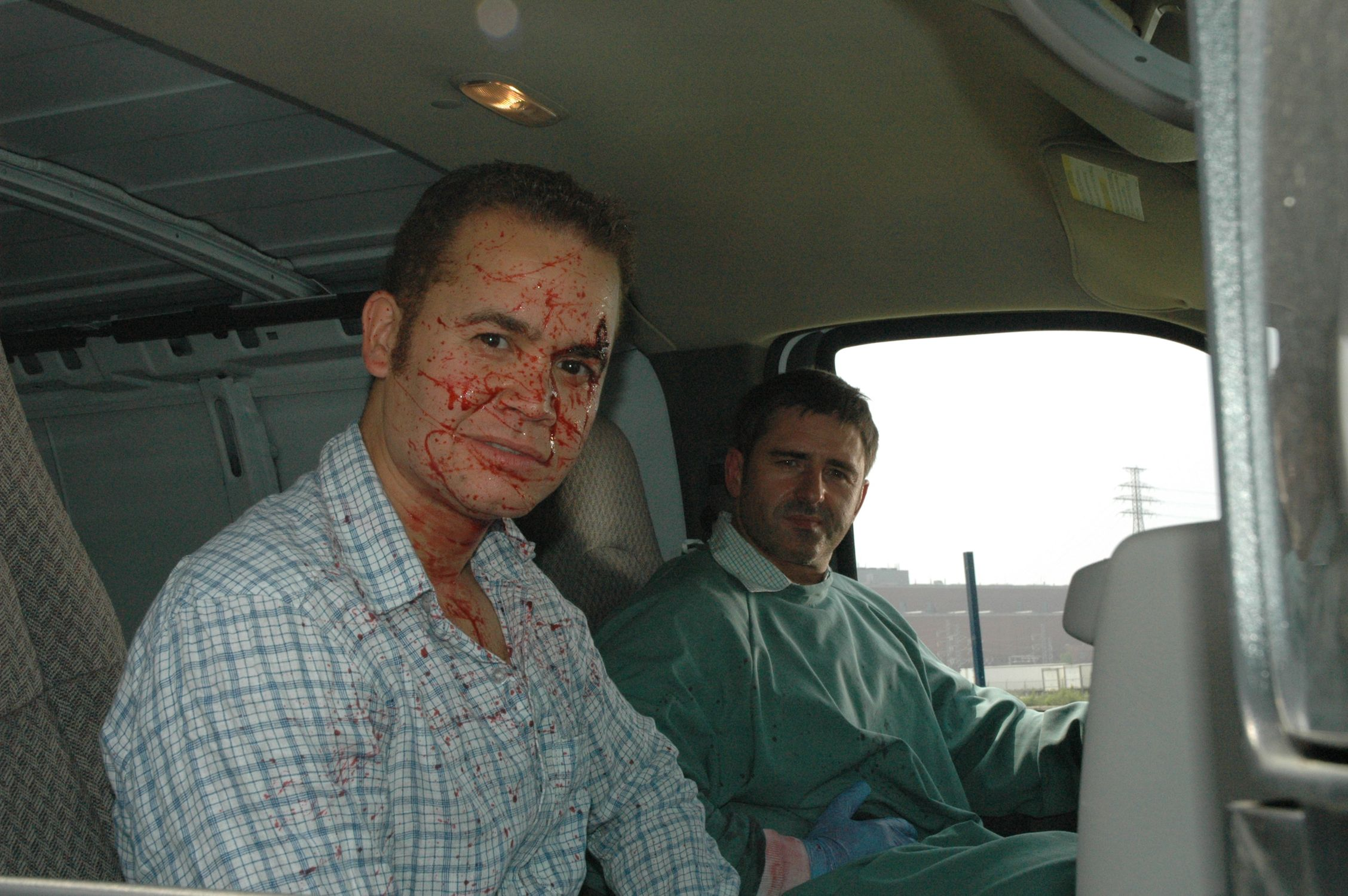 Anthony Greene & Brad Siciliano ham it up between takes