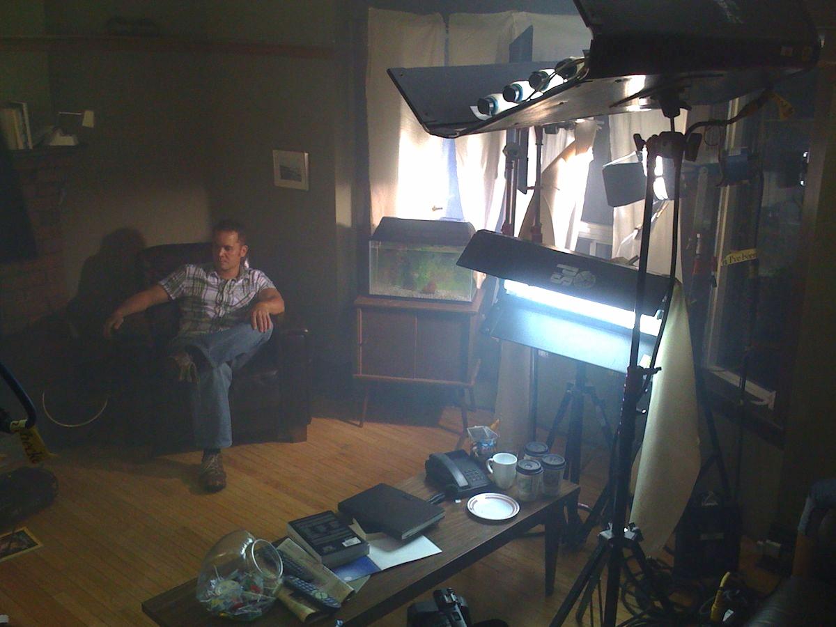 Cinematographer Alex Dacev's valiant attempt to fight the setting sun