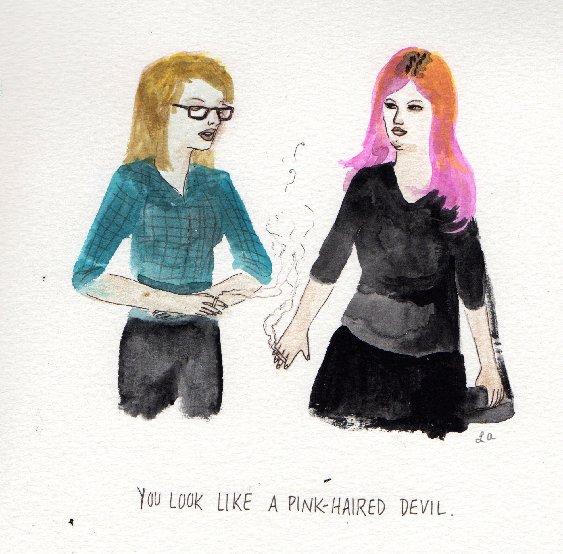 Excerpt from an unfinished personal comic about two female artists and the different paths they choose.