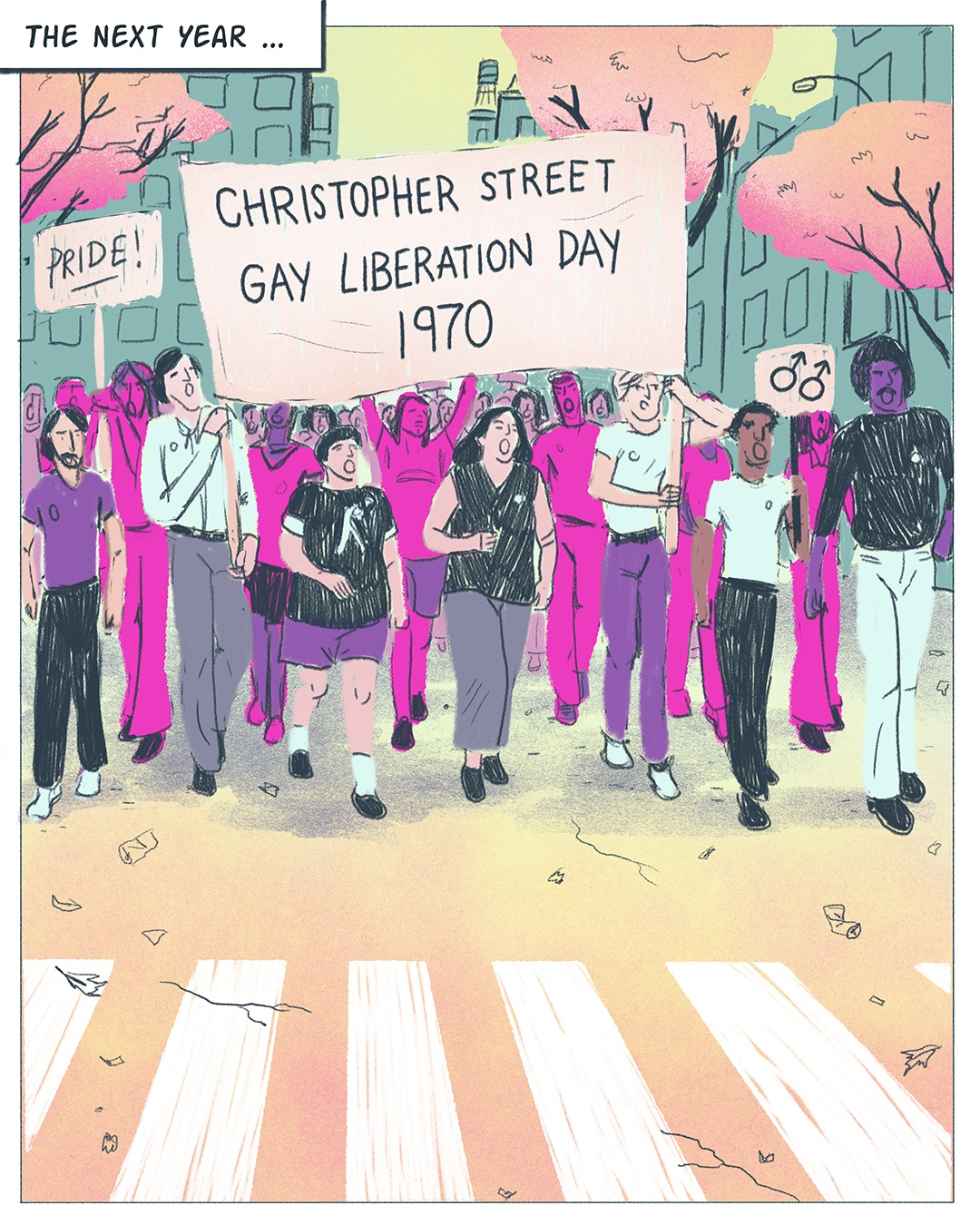 Read the comic here:   50th Anniversary of Stonewall Inn Riots  — comic for NPR.org, June, 2019.
