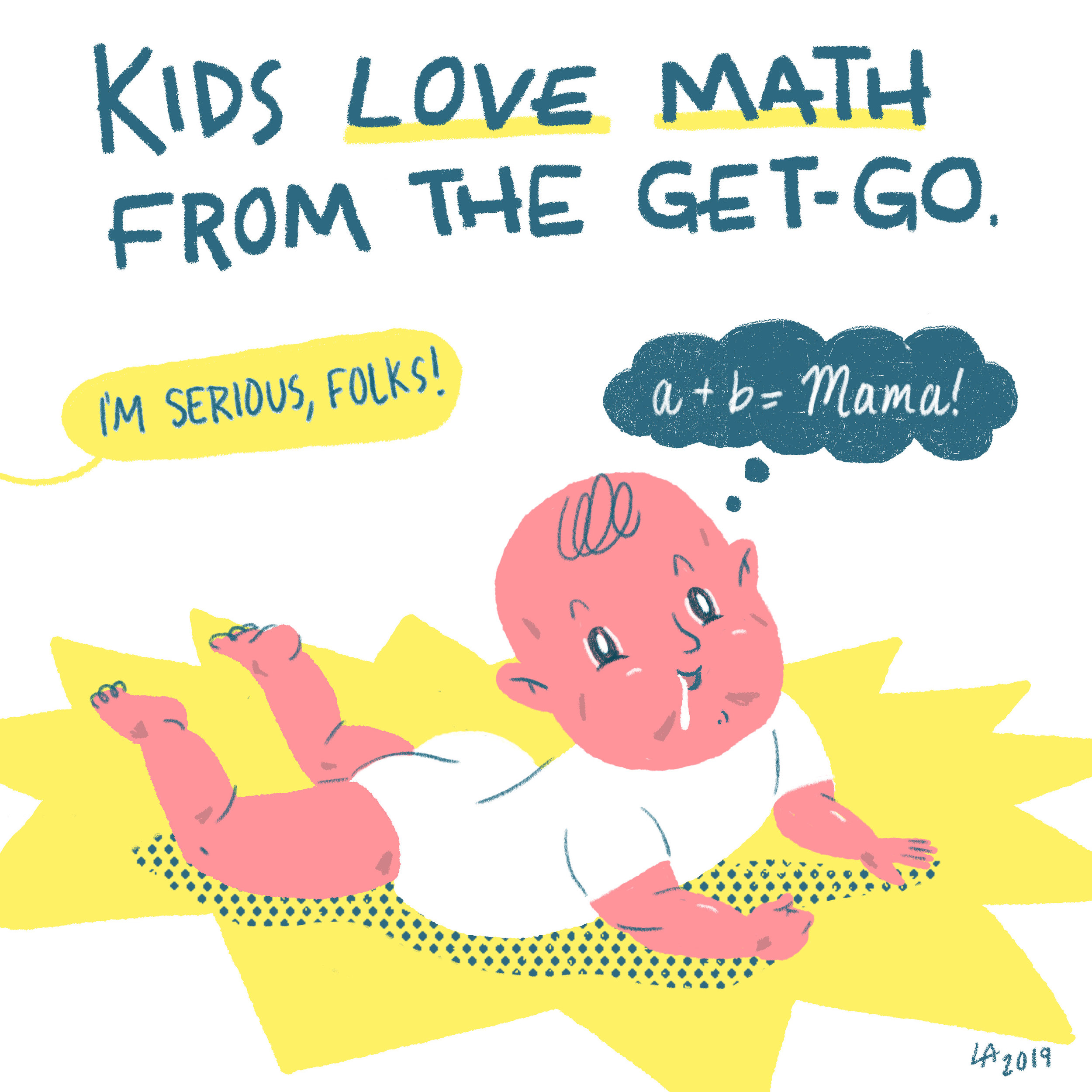 Read the comic here:  Comic about  teaching your kids to love math  — for NPR's Instagram account, 2019.