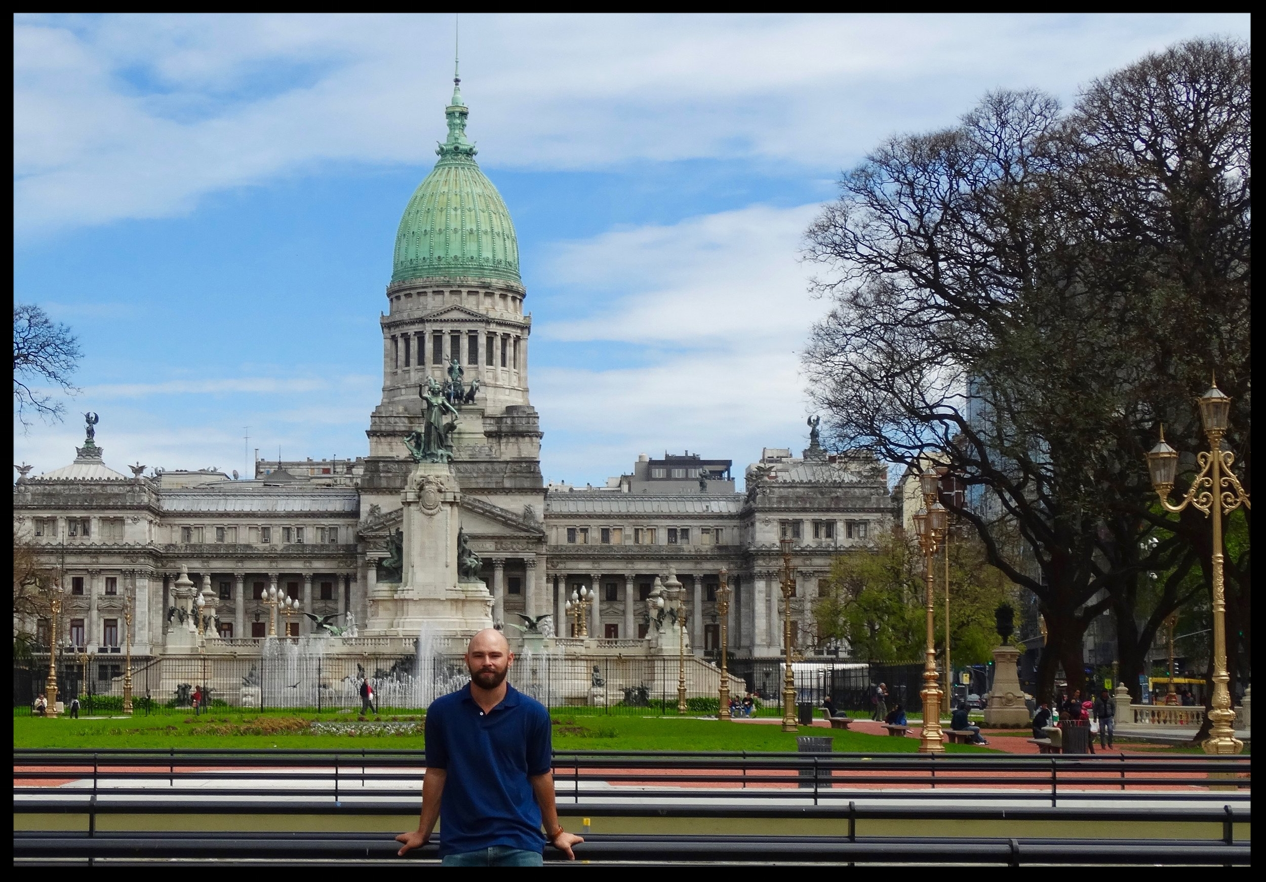 In front of the national congress building at the city center in Buenos Aires (2017). For more pictures of my time in Argentina, visit  Photos .