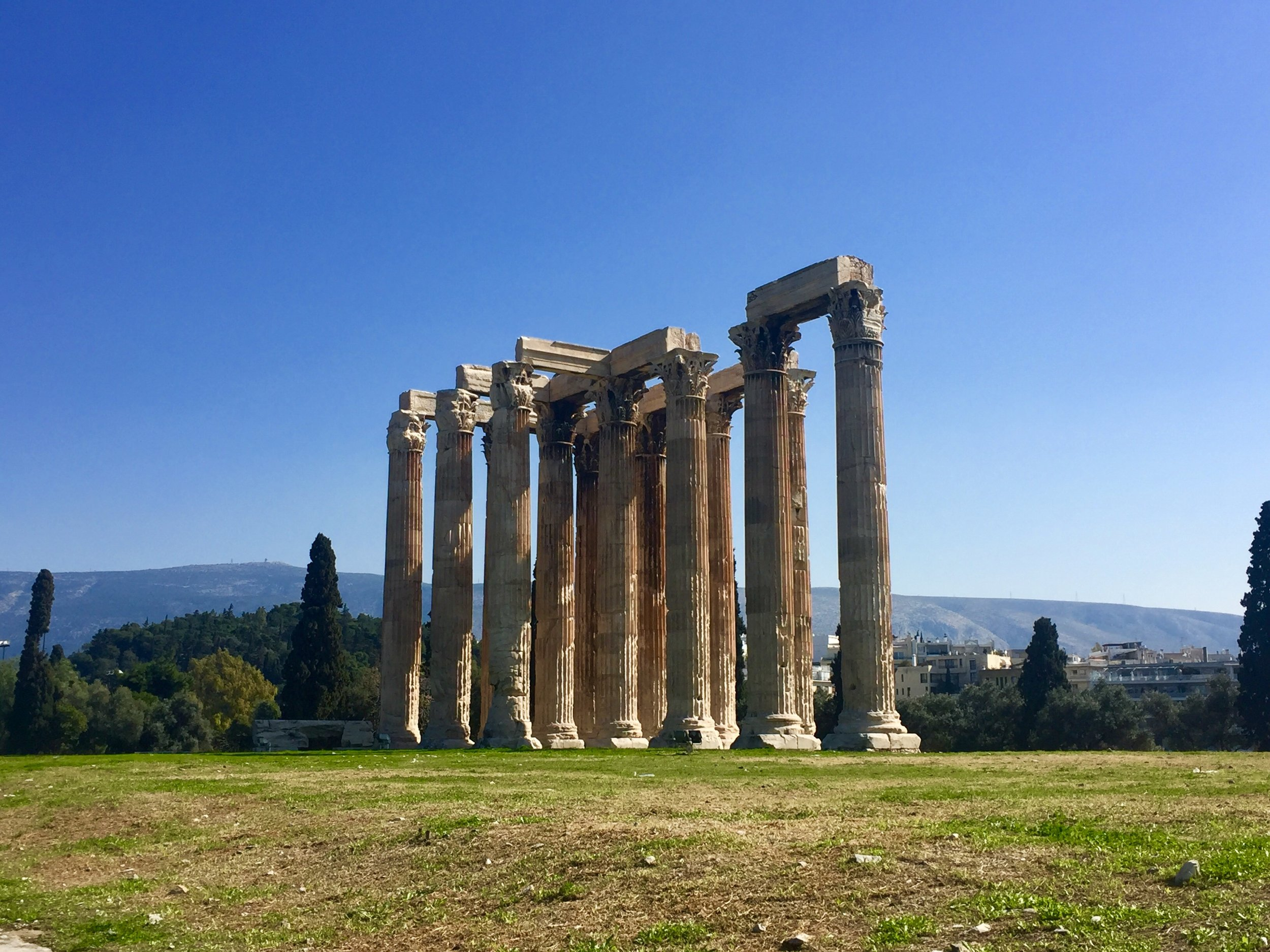 Temple of Olympian Zeus (begun in the sixth century B.C.E., but not completed until the second century C.E.)