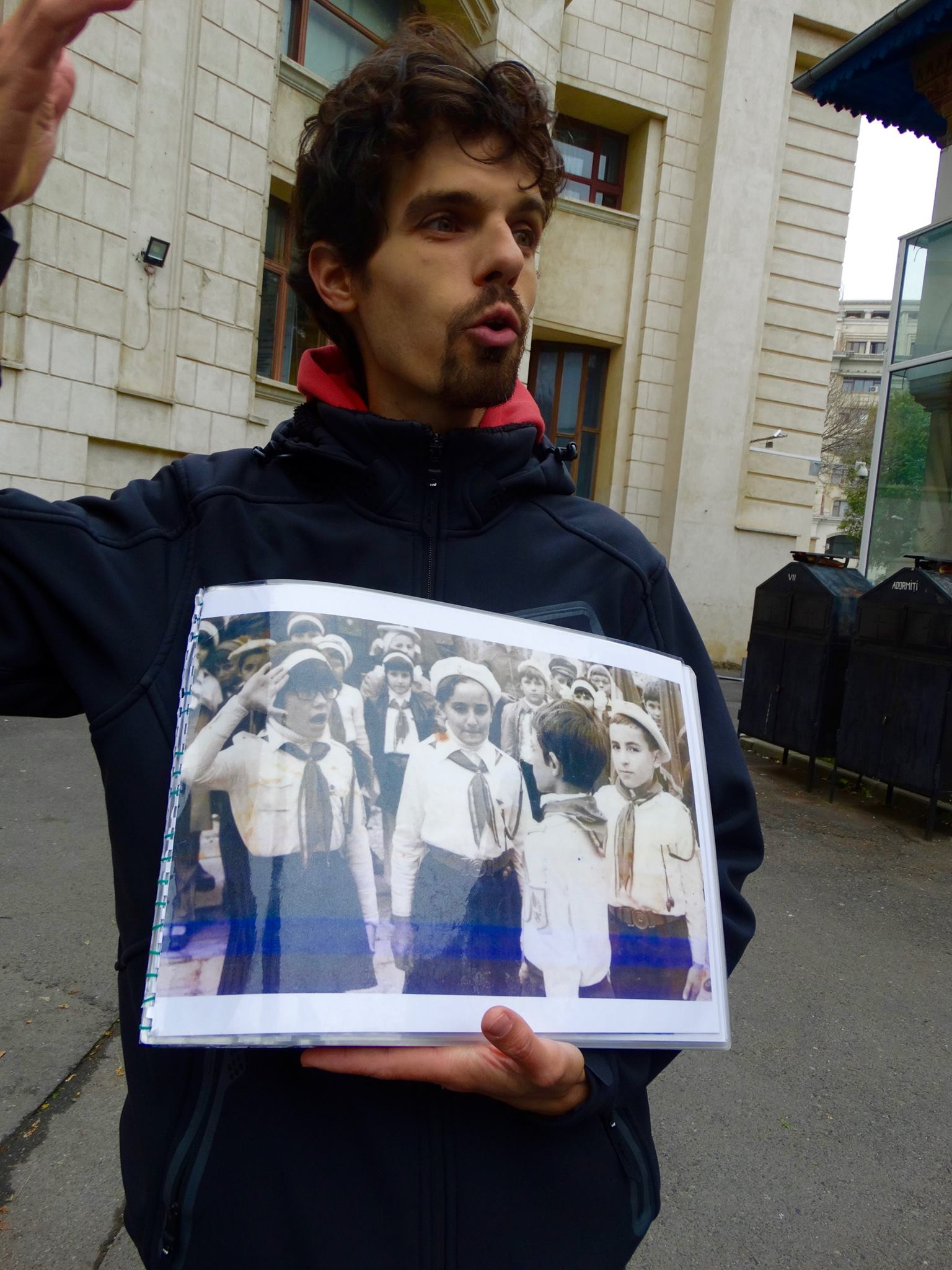 """A picture of Romania's communist youth program, the """"Pioneers"""". The state mandated that all children from the second grade to the eighth become Pioneers, and our tour guide himself was a Pioneer during the last year of Ceauşescu's regime."""