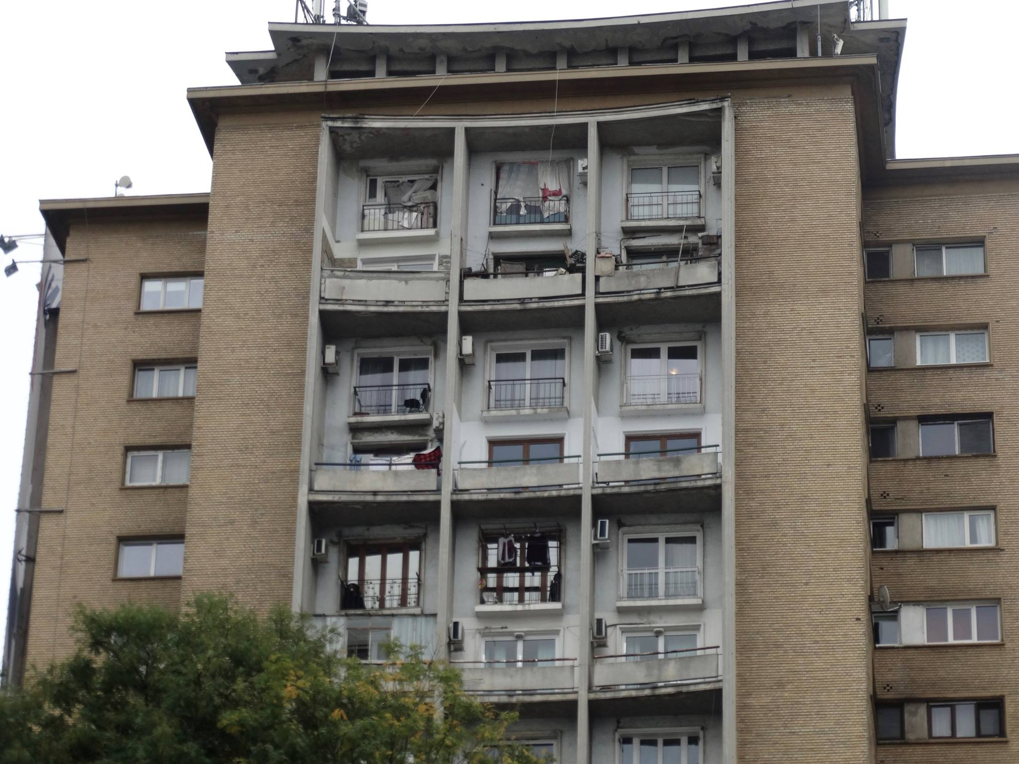 Here is what the standard apartment building built by the communist regime looked like. Three to four families were often crammed into each unit, and in order to make room for the apartment buildings, historical monuments and old churches were often bulldozed.