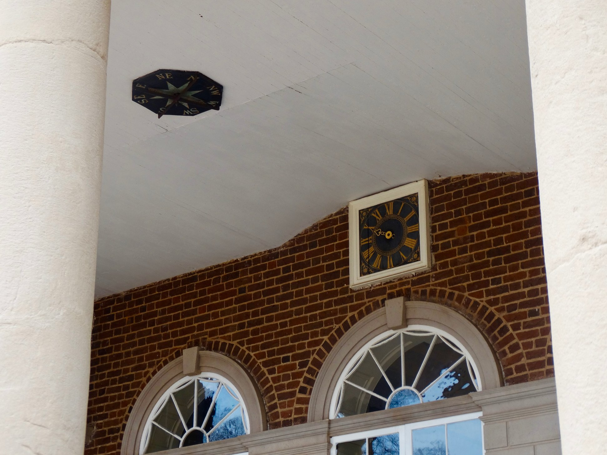 Jefferson's clock at the entry of Monticello (designed by Jefferson and built in 1792) has only one hand because, according to Jefferson, one hand was all that was needed when it came to laboring on a farm.