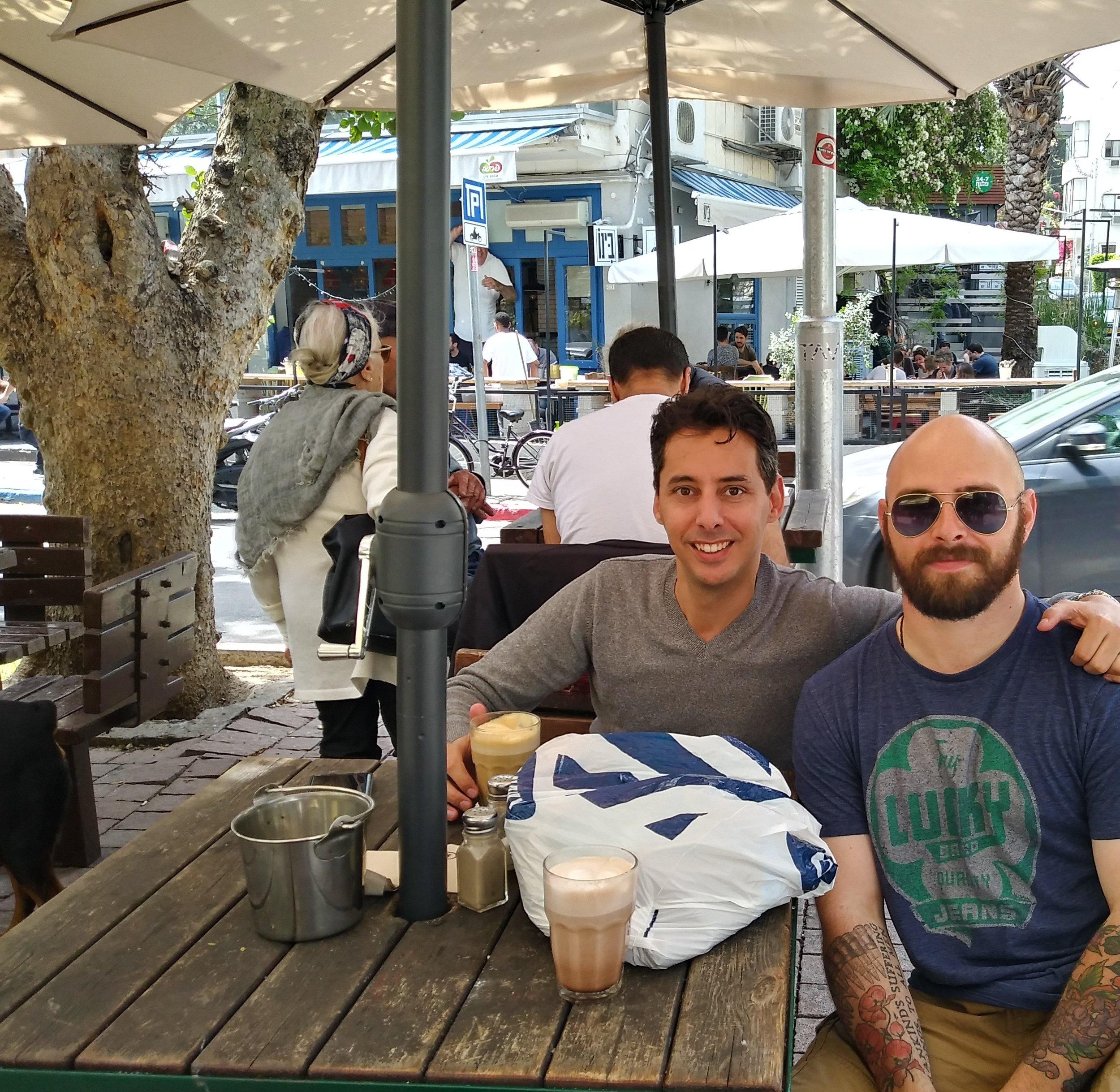 My cousin in Tel Aviv.