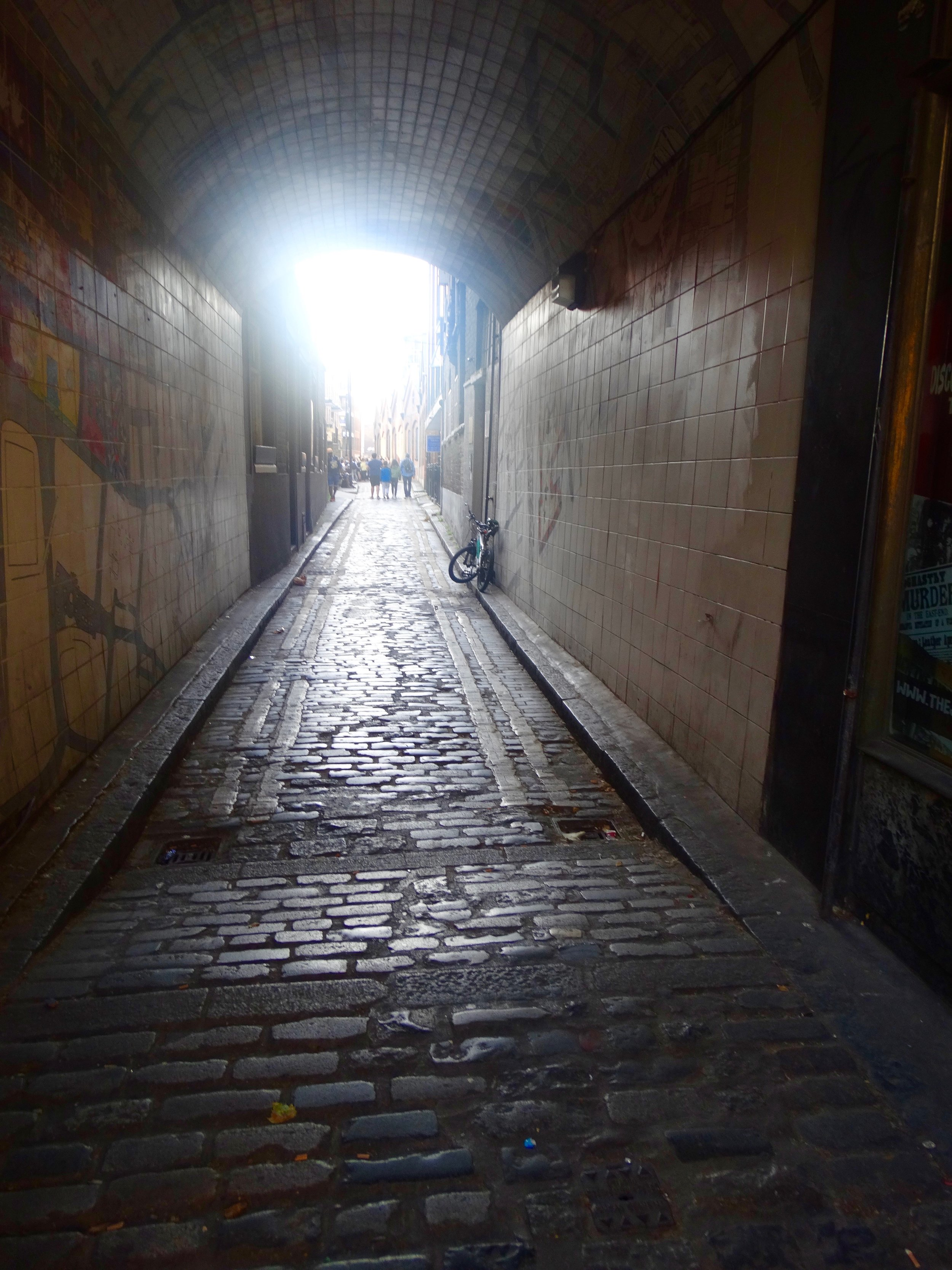 The cobblestones are the original stones that were on the street when the Ripper committed his crimes.