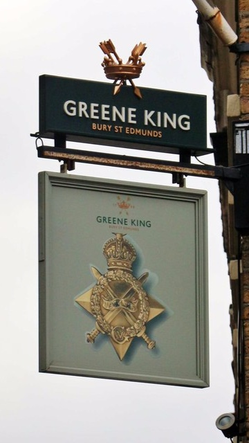 This photo is not mine actually, I just forgot to take a picture of the sign. The Greene King was established in 1799.