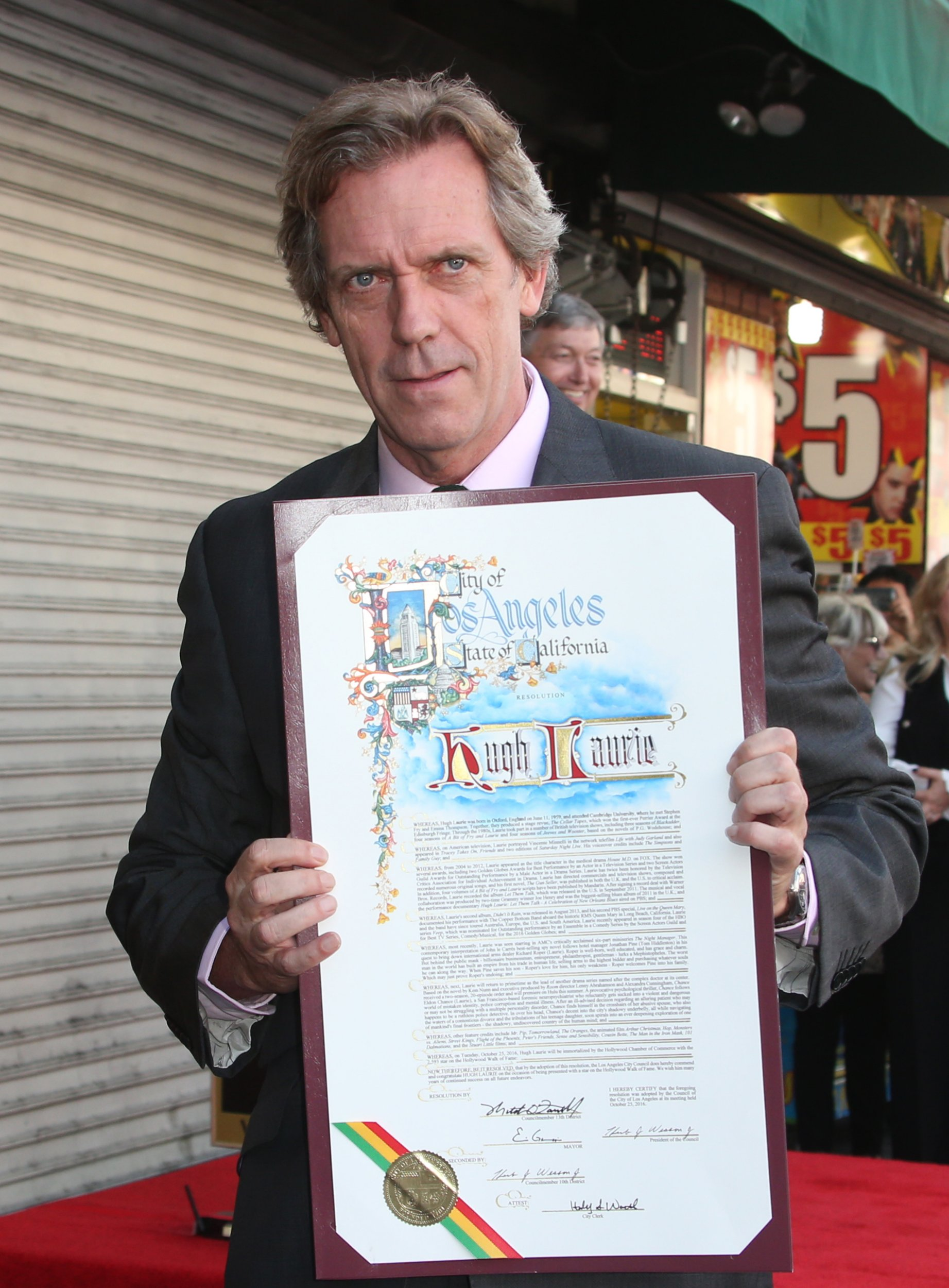 Hugh Laurie Honored With Star On The Hollywood Walk Of Fame Featuring: Hugh Laurie Where: Hollywood, California, United States When: 26 Oct 2016 Credit: FayesVision/WENN.com