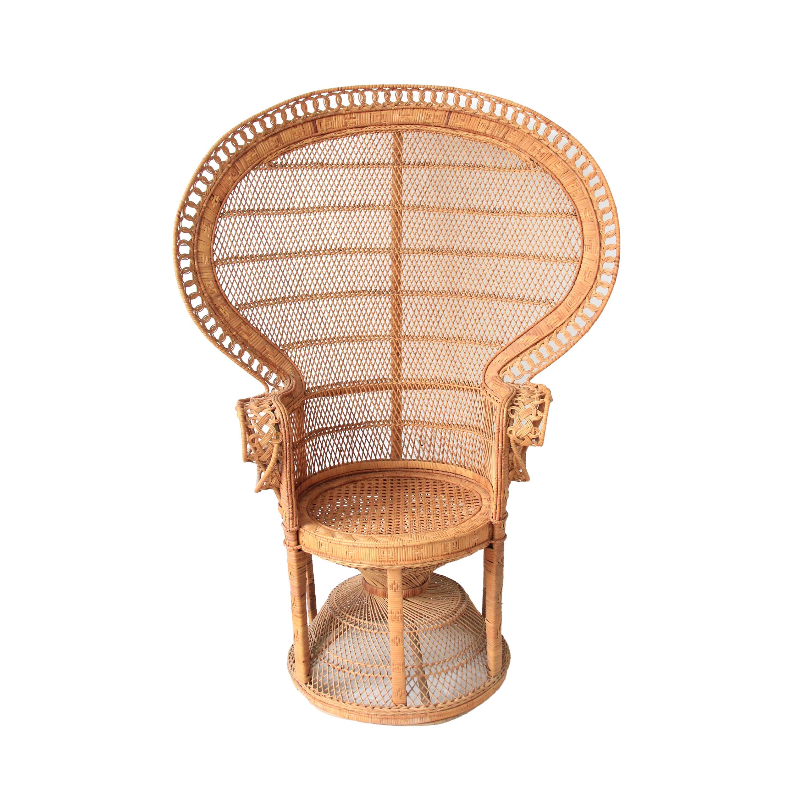 Vintage Peacock Fan Chair