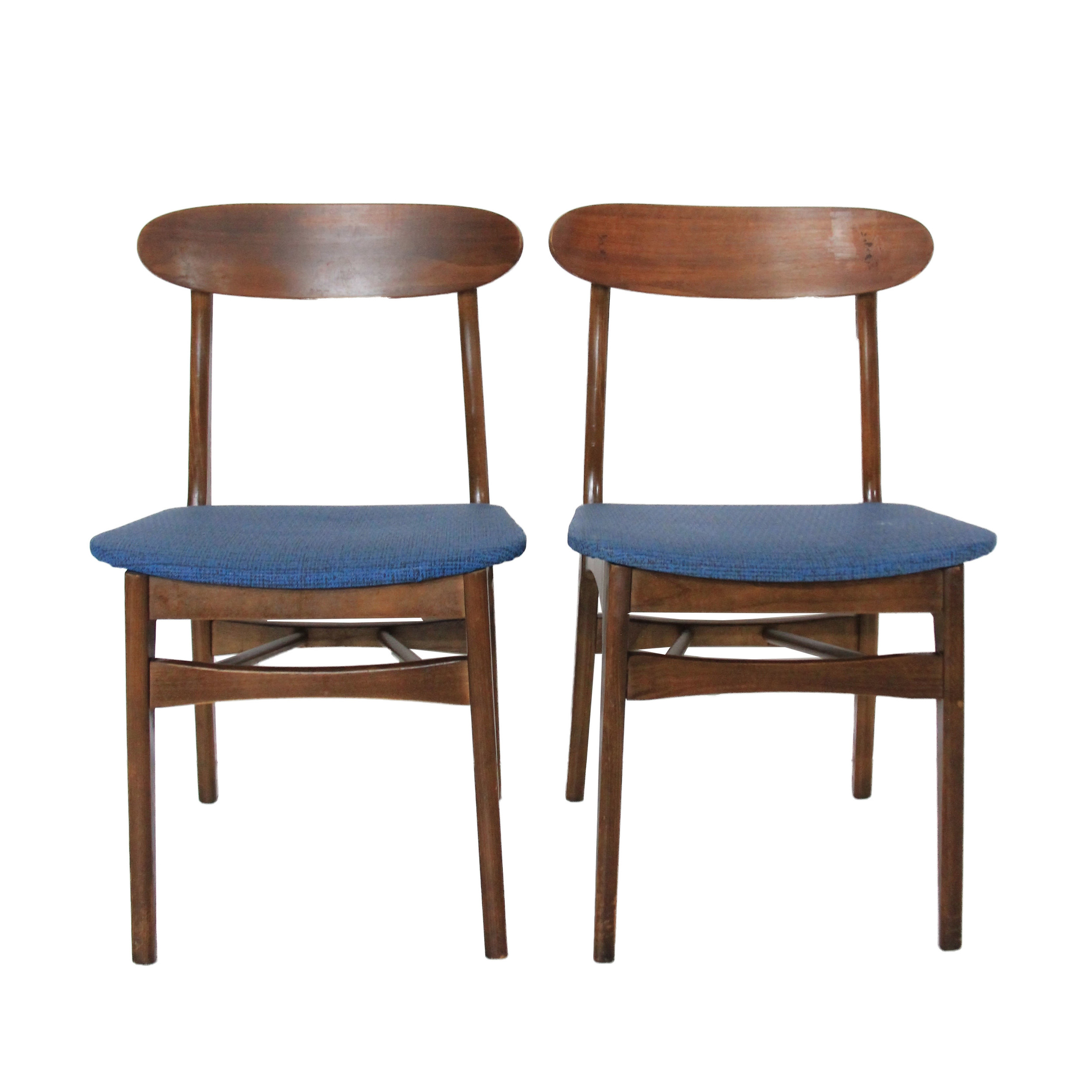 Vintage Mid Century Modern Pair of Dining Chairs