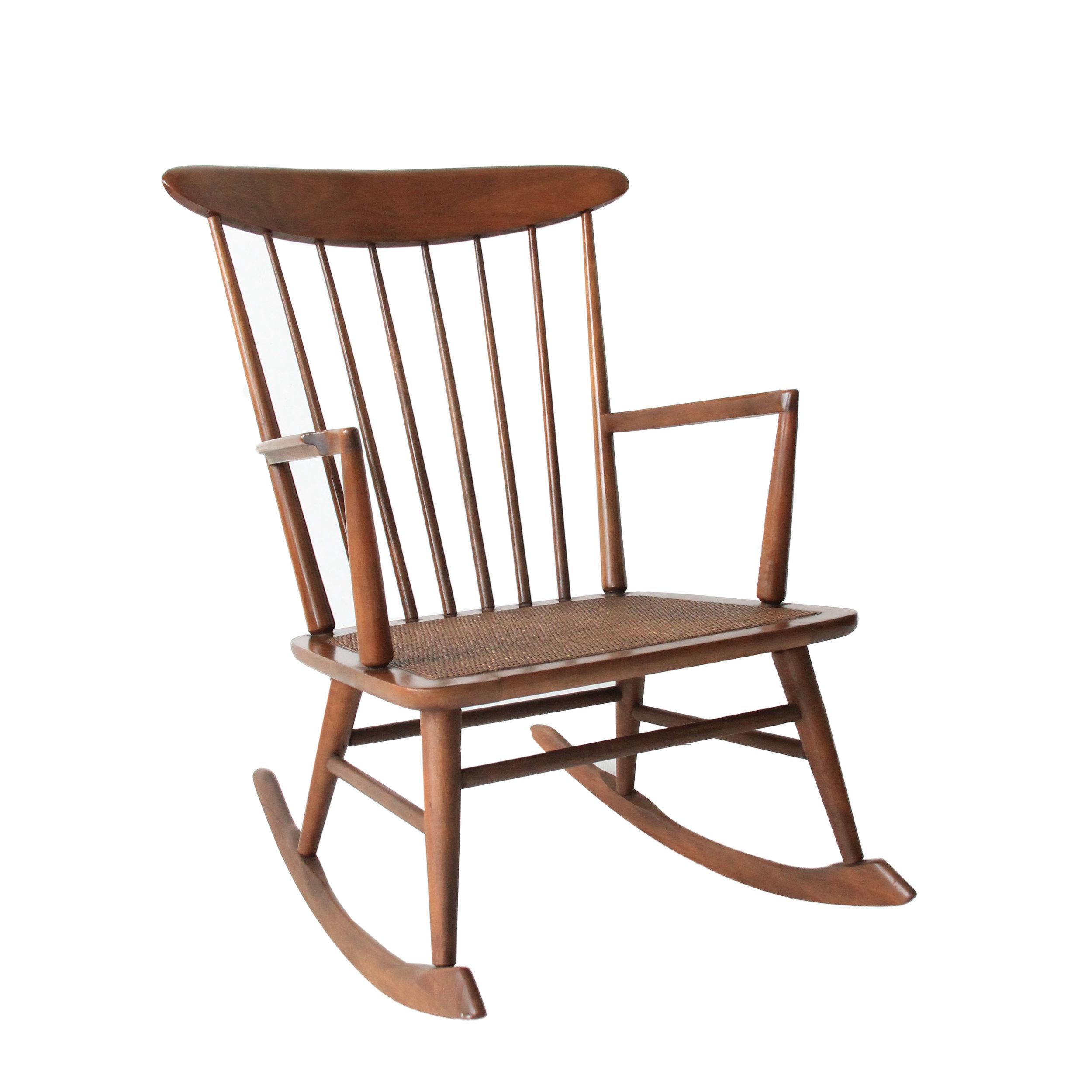 Vintage Mid Century Modern Rocking Chair