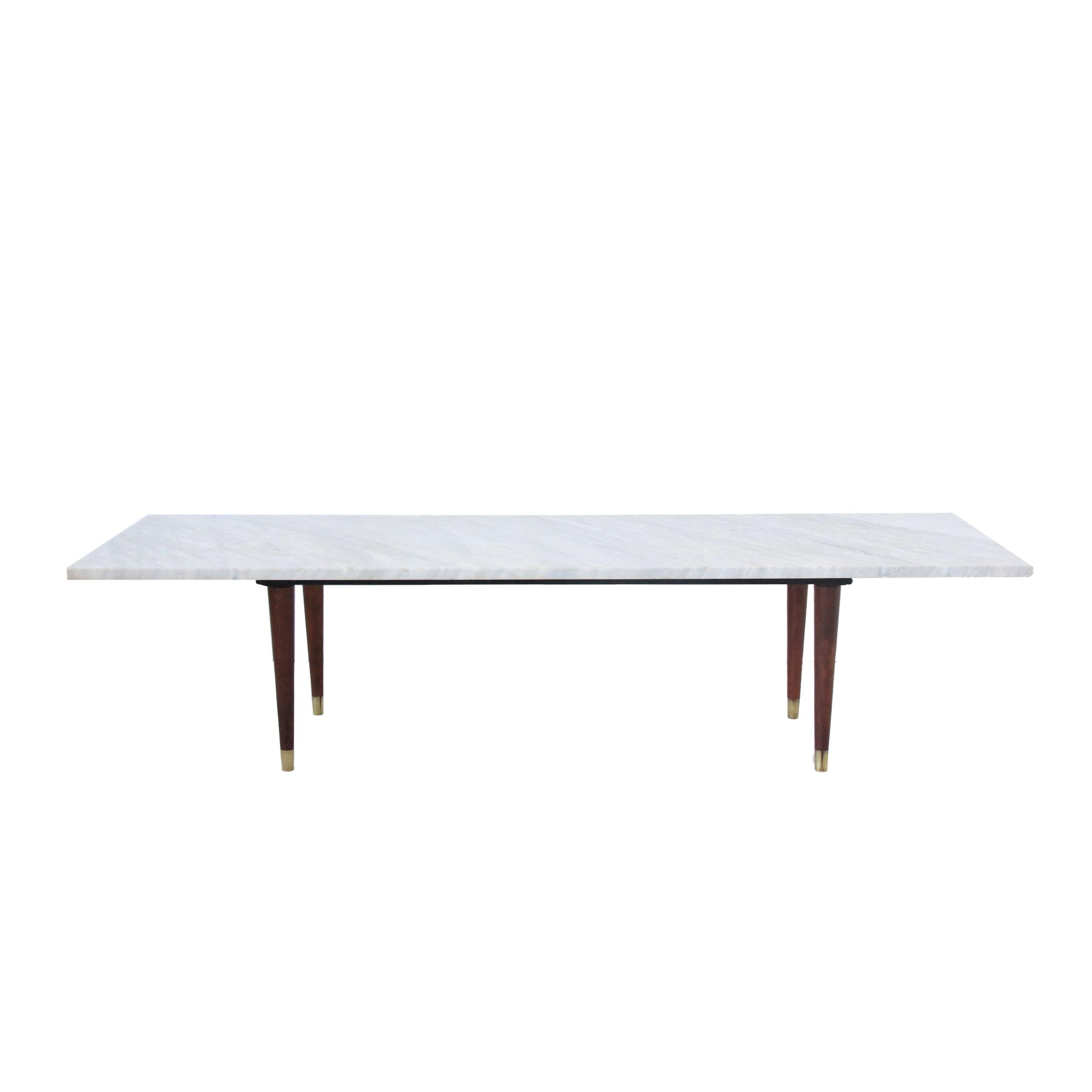 Vintage Mid Century Modern Marble Table