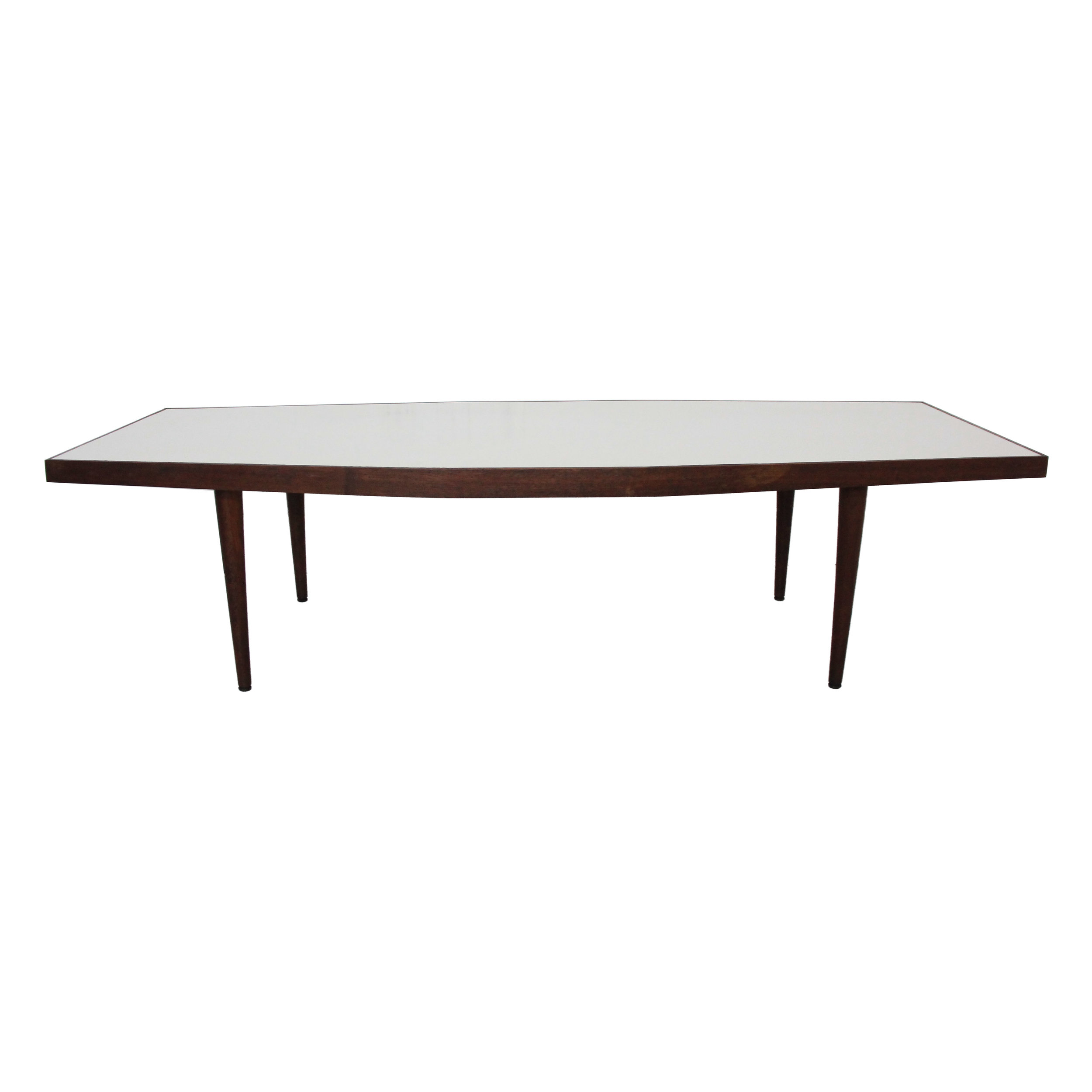 Vintage Mid Century Modern White Boomerang Coffee Table